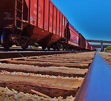 BNSF Yard, Corona, California by Stephen Burke