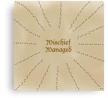 Mischief Managed - Simple Canvas Print
