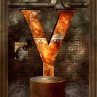 Steampunk - Alphabet - Y is for Yellow Goggles by Mike  Savad
