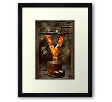 Steampunk - Alphabet - Y is for Yellow Goggles Framed Print