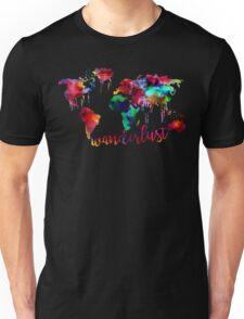Watercolor Wanderlust World Map  Unisex T-Shirt