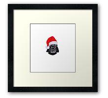 Star Wars Christmas - Darth Vader Framed Print