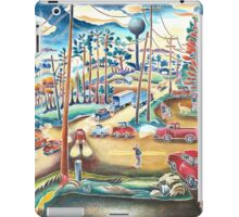 Small town county road  iPad Case/Skin