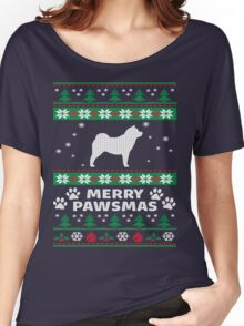Merry Pawsmas Chowchow Dog Christmas T-Shirt Women's Relaxed Fit T-Shirt
