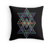 Star of David Fractal 21J by sdavis Throw Pillow