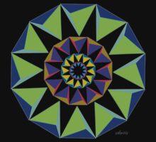 sdd Tetrahedron Mandala Fractal 1G by mandalafractal