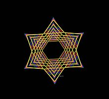 Star of David Mandala Fractal 8H by mandalafractal