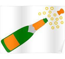 Champagne Bottle and Popping Cork Poster