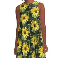 Evening Sunflower A-Line Dress