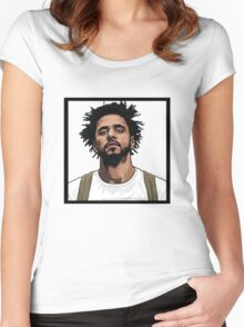 J Cole Women's Fitted Scoop T-Shirt