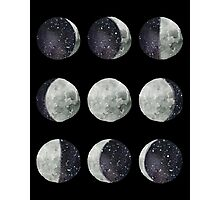Moon Phases - Watercolor & Ink Photographic Print