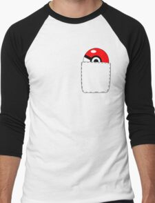 Pokeball Pocket Men's Baseball ¾ T-Shirt