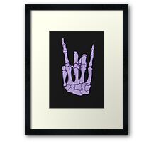 Skeleton hand | Lilac Framed Print
