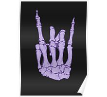 Skeleton hand | Lilac Poster