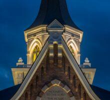 Provo City Center Temple Close-up At Night 2 - Utah Sticker