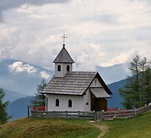 A Chapel in the Alps. by Lee d'Entremont