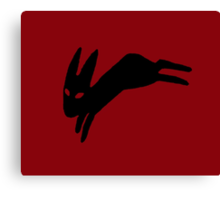 Black Rabbit Canvas Print