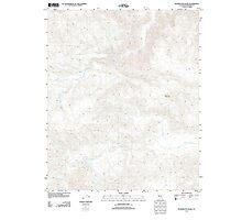 USGS TOPO Map California CA Washington Wash 20120420 TM geo Photographic Print