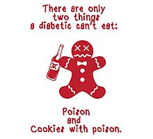 Cookies With Poison - Red Photographic Print