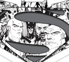 Batman Superman Illustration Light Sticker