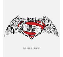 Batman Superman Illustration Light Photographic Print