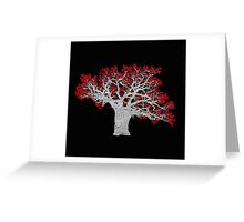 Red Heart Tree Greeting Card