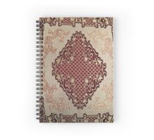 Red and Gold Bohemian Pattern  Spiral Notebook