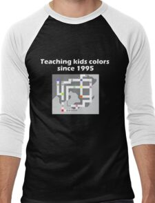 Teaching Kids Colors Since 1995 - Pokemon Kanto Map Men's Baseball ¾ T-Shirt
