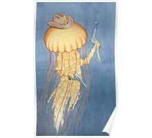 The Jellyfish Stinger Gunslinger Poster
