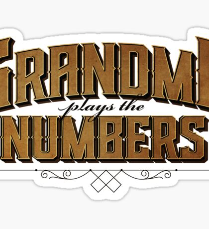 Grandma Plays the Numbers Sticker