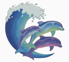 Psychedelic Dolphins Kids Tee