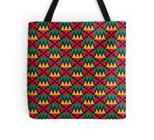 African Geometric - Red, Yellow, Green, Black - Kwanzaa Tote Bag