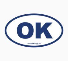 Oklahoma OK Euro Oval BLUE by USAswagg2