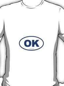 Oklahoma OK Euro Oval BLUE T-Shirt