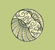 Mandala with lily by deridara