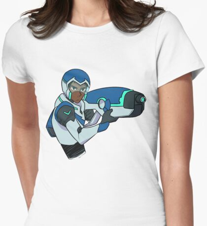 The Blue Paladin Womens Fitted T-Shirt