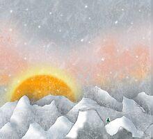 Alone in a Sunrise Snowstorm by Carol Vega