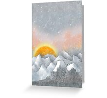Alone in a Sunrise Snowstorm Greeting Card