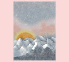 Alone in a Sunrise Snowstorm Kids Clothes