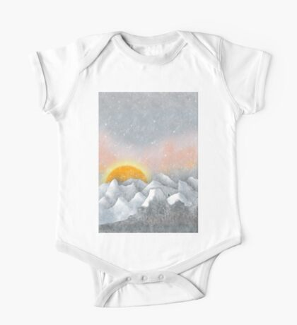 Alone in a Sunrise Snowstorm One Piece - Short Sleeve
