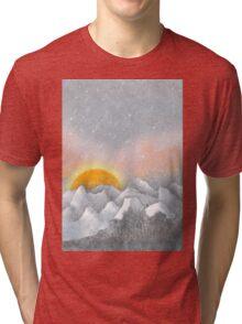 Alone in a Sunrise Snowstorm Tri-blend T-Shirt