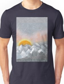 Alone in a Sunrise Snowstorm Unisex T-Shirt