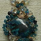 Azurite Malachite Pendant by Erica Long