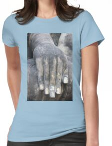Hand of buddha Womens Fitted T-Shirt