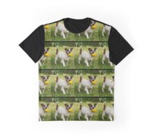 Fox Terrier With His Yellow Ball In A Pattern. Graphic T-Shirt