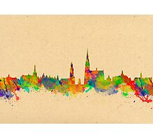 Skyline of Antwerp in Belgium Photographic Print