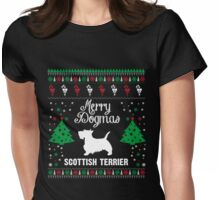 Merry Dogmas Scottish Terrier T-Shirt Womens Fitted T-Shirt