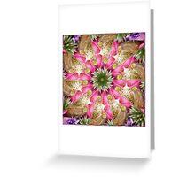 Kaleidoscope   Spring Flowers 1  Greeting Card