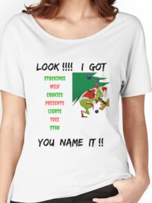 YOU NAME IT GRINCH CHRISTMAS T-SHIRT Women's Relaxed Fit T-Shirt