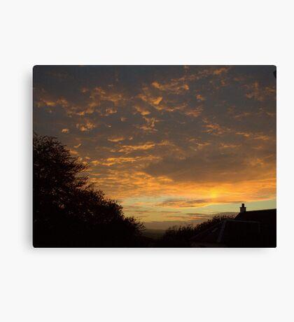Sunset through Dark Clouds Canvas Print